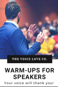 Trouble with your speaking voice? Get free warm-ups for speakers here!
