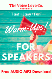 Fast, Easy, Free Audio mp3 Warm-Ups for Speakers Here!