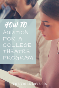 A girl studies her script. How To Audition for A College Theatre Program. 13 tips HERE.