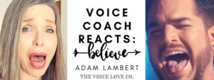 Adam Lambert sings with his mouth open, tongue out. Voice Coach sings with her mouth open, tongue out. Voice Coach Reacts to Believe, the tribute Adam did for Cher at the Kennedy Honors in 2018.
