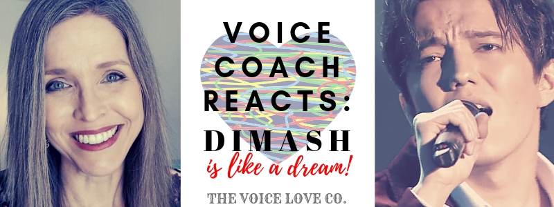 "Veteran Voice Coach smiles as Dimash Kudaibergen sings with passion into his microphone. Voice Coach Reacts: ""Dimash is like a dream!"" The Voice Love Co."