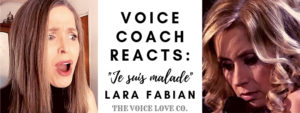 Voice coach Christi Bovee looks stunned as Lara Fabian sings her hauntingly beautiful Je Suis Malade in this Voice Coach Reacts video