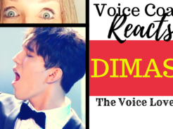voice coach reacts to Dimash singing Sinful Passion. Veteran voice coach Christi Bovee looks wide eyed at Dimash Kudaibergen singing into a microphone. Here at The Voice Love Co.
