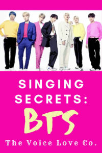 Learn to sing like BTS. BTS, South Korean boy band, looks on. Singing Secrets: BTS revealed HERE at The Voice Love Co.