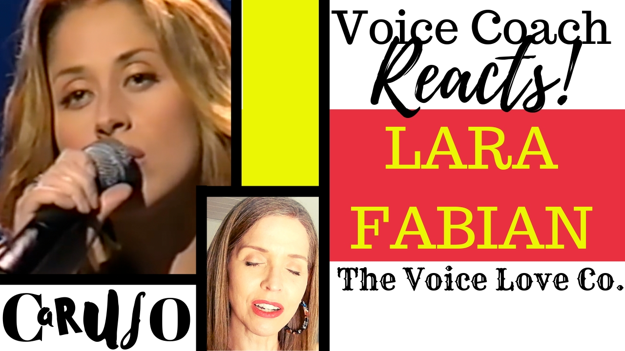 Voice Coach Reacts | Lara Fabian | Caruso - The Voice Love Company